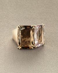 H Stern | Metallic Cobblestone Two-stone Ring | Lyst