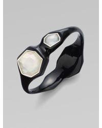 Ippolita - Black Clear Quartz, Mother-of-pearl & Resin Bracelet - Lyst
