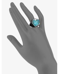 Ippolita - Black Turquoise, Sterling Silver & Resin Ring - Lyst