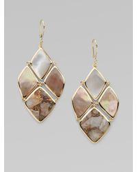 Ippolita - Metallic Bronze White Calcite, Brown Shell, Mother Of Pearl &18k Gold Earrings - Lyst