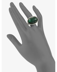 Ippolita - Green Clear Quartz, Mother-of-pearl & Sterling Silver Ring - Lyst