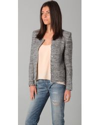 IRO | Gray Sveva Peaked Shoulder Jacket | Lyst