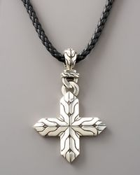John Hardy - Metallic Classic Chain Cross Necklace for Men - Lyst