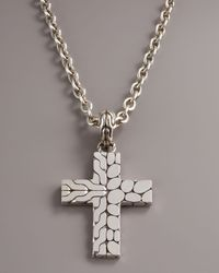 John Hardy - Metallic Kali Cross Pendant for Men - Lyst