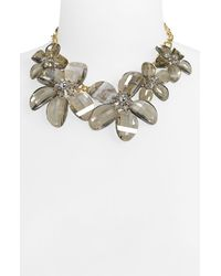 kate spade new york | Metallic Delacorte Floral Swag Necklace | Lyst