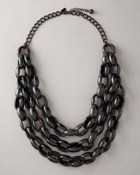 kate spade new york Black Highline Triple Row Necklace