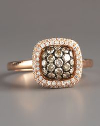 KC Designs - Pink Champagne & White Diamond Ring, Rose - Lyst