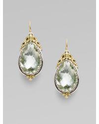 Konstantino - Metallic Prasiolite, Sterling Silver & 18k Yellow Gold Earrings - Lyst