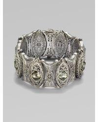 Konstantino - Metallic Prasiolite & Sterling Silver Cuff Bracelet - Lyst