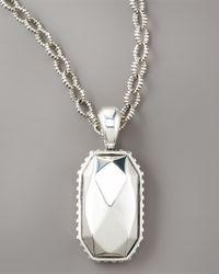 Lagos - Metallic Rock Pendant Necklace - Lyst