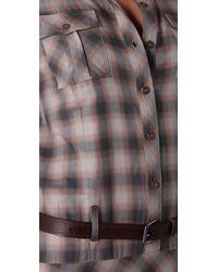L.A.M.B. | Brown Maxi Plaid Dress | Lyst