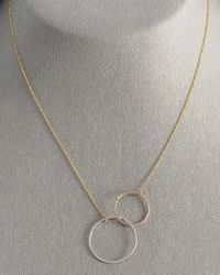 Lana Jewelry | Metallic Magnetic Two-circle Necklace | Lyst