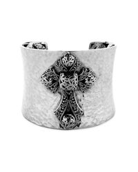 Lois Hill | Gray Concave Cuff Bracelet with Cutout Detail | Lyst