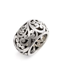 Lois Hill | Metallic Cage Cigar Band Ring | Lyst