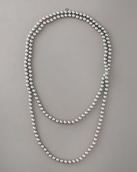 Majorica - Gray Manmade-pearl Necklace, 60l - Lyst