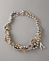 Marc By Marc Jacobs | Metallic Miriam Multi-strand Necklace | Lyst