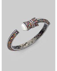 M.c.l  Matthew Campbell Laurenza - Multicolor Sapphire & Sterling Silver Armored Detail Bracelet - Lyst