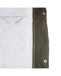 Moncler Gamme Bleu   Khaki Cupro Coat for Men   Lyst