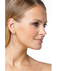 Nadri | Metallic Pave Inside Out Hoop Earrings | Lyst