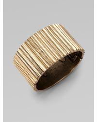 Oscar de la Renta   Metallic Russian Gold Cuff Bracelet   Lyst