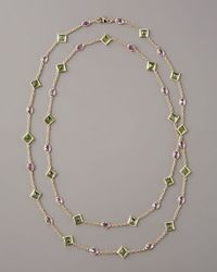Paolo Costagli - Metallic Peridot & Pink Sapphire By-the-yard Necklace - Lyst