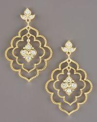 Penny Preville - Metallic Flower Petal Earrings - Lyst