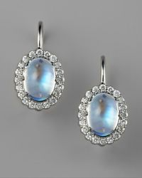 Penny Preville | Blue Pave Diamond & Moonstone Earrings | Lyst