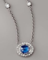 Penny Preville Blue Pave Diamond & Moonstone Necklace
