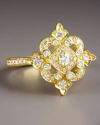 Penny Preville - Metallic Yellow Gold Diamond Ring - Lyst
