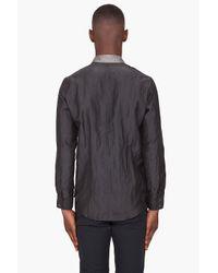 Robert Geller - Gray Cupro Contrast Collar Shirt for Men - Lyst