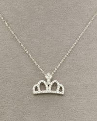 Roberto Coin - Metallic Diamond Crown Necklace - Lyst