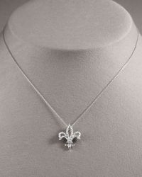 Roberto Coin | Metallic Fleur-de-lis Diamond Pendant Necklace | Lyst