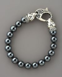 Stephen Webster | Metallic Ravens Head Bead Bracelet for Men | Lyst
