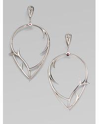 Stephen Webster | Metallic Ruby & Sterling Silver Thorn Earrings | Lyst