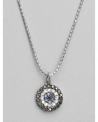 Sydney Evan - Metallic Diamond, Sapphire & 14k White Gold Medallion Necklace - Lyst