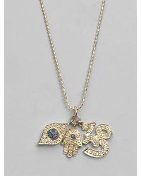Sydney Evan - Metallic Diamond, Sapphire & 14k Yellow Gold Charm Necklace - Lyst