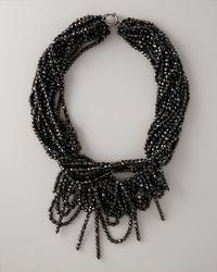 Vera Wang   Black Multi-strand Bead Necklace   Lyst