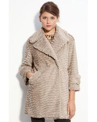 Vince Camuto | Natural Faux Fur Jacket | Lyst