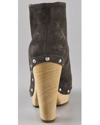 Belle By Sigerson Morrison - Brown Pull-on Clog Booties - Lyst