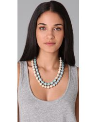 Bluma Project | Blue Paper Bead Necklace | Lyst