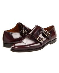 Burberry - Brown Polished Leather Monk Shoes - Lyst