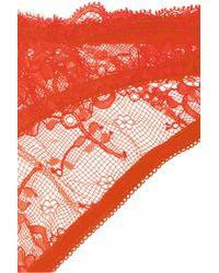 Deborah Marquit | Orange French Lace Soft-cup Bra | Lyst