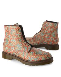 Dr. Martens Multicolor The Jeffrey 8-eye Boot in Beige and Brown for men