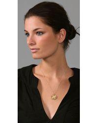 Gorjana Metallic Circle Diamond Necklace