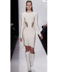 Hervé Léger - Natural Long Sleeve Dress - Lyst