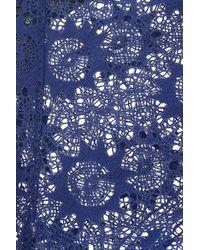 Kiki de Montparnasse Blue 'miel' Stretch Lace Panty