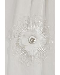 Lanvin - Gray Silk-mousseline Embellished Gown - Lyst