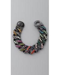 Marc By Marc Jacobs Multicolor Katie Pave Chain Bracelet, Large