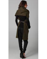 Max Azria | Green Sleeveless Cape Coat | Lyst