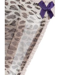 Mimi Holliday by Damaris Multicolor Petit Gateax Leopard-print Silk-chiffon Thong